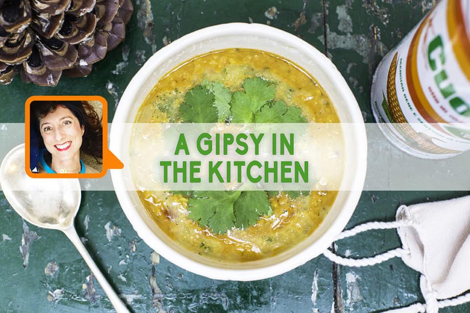 Dahl di lenticchie con riduzione al limone, coriandolo e Olio Cuore